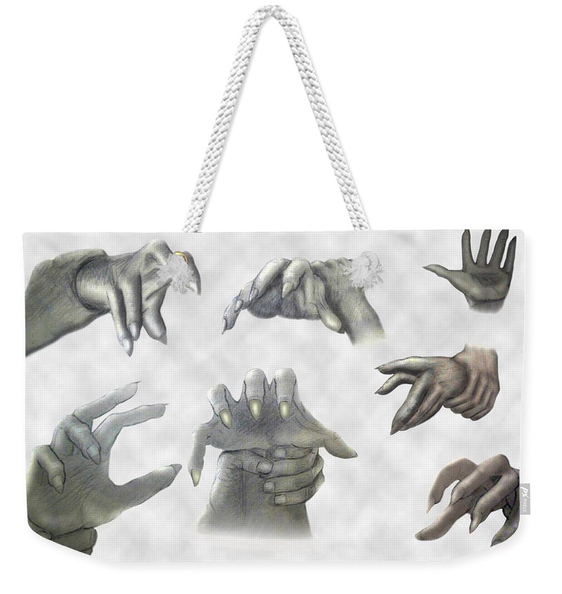 2d Weekender Tote Bag featuring the drawing While We Sleep by Brian Wallace