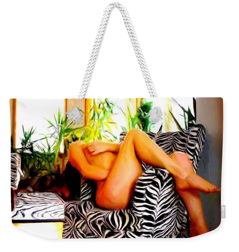 Self Portrait Weekender Tote Bag featuring the photograph While You Are Away  Number Two by Sara Young
