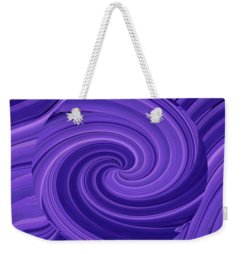 Whirlpool Weekender Tote Bag featuring the photograph Whirlpool Blues by Tim Allen