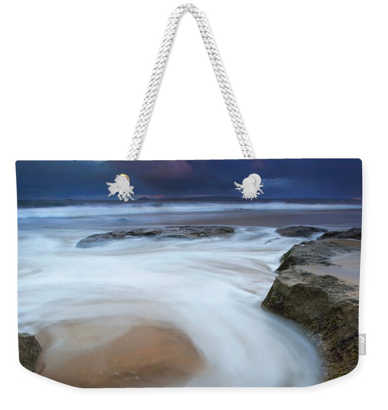 Knight's Beach Weekender Tote Bag featuring the photograph Whirlpool Dawn by Mike Dawson