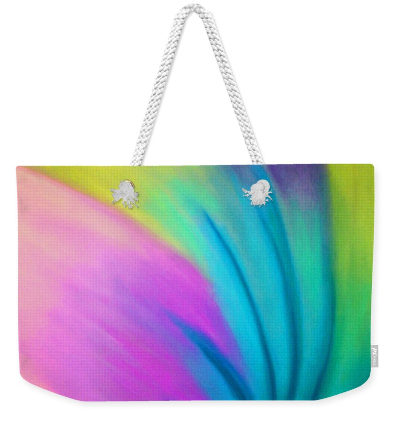 Pastel; Colors; Abstract Drawing Weekender Tote Bag featuring the drawing Whirlwind by Jan Gilmore