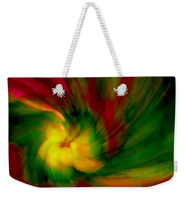 Abstract Weekender Tote Bag featuring the photograph Whirlwind Passion by Neil Shapiro