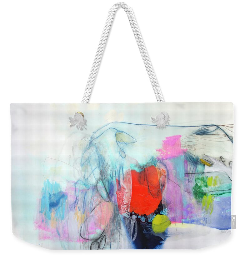 Abstract Weekender Tote Bag featuring the painting Whisper by Claire Desjardins