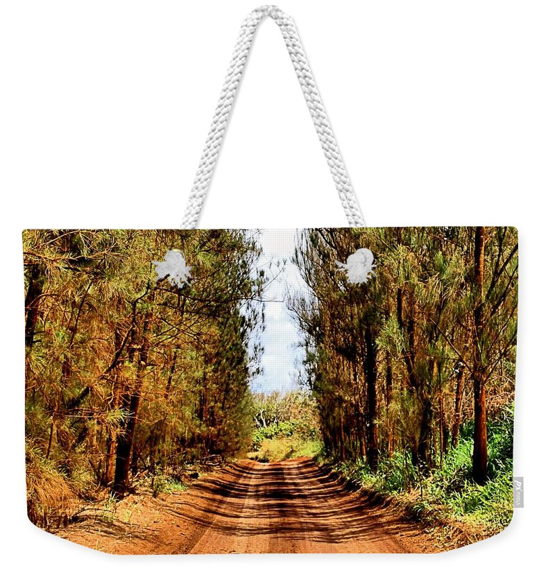 Square Weekender Tote Bag featuring the photograph Whispering Pines by DJ Florek
