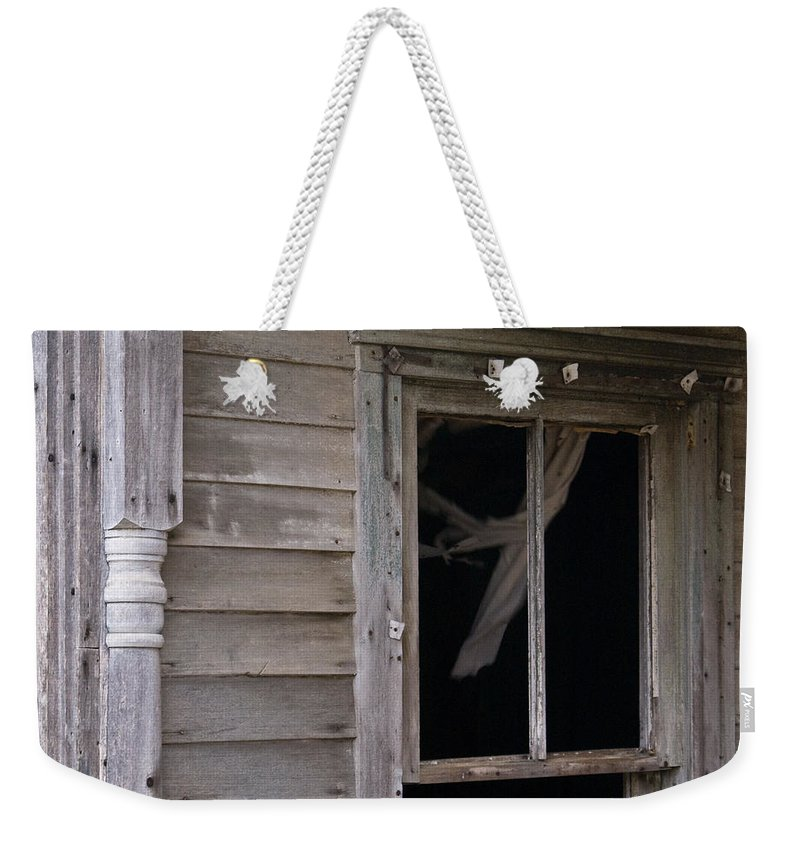 Curtain Weekender Tote Bag featuring the photograph Whispy Ghost by Douglas Barnett