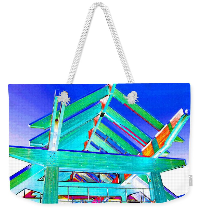 Whistler Conference Centre Weekender Tote Bag featuring the digital art Whistler Conference Centre by Will Borden
