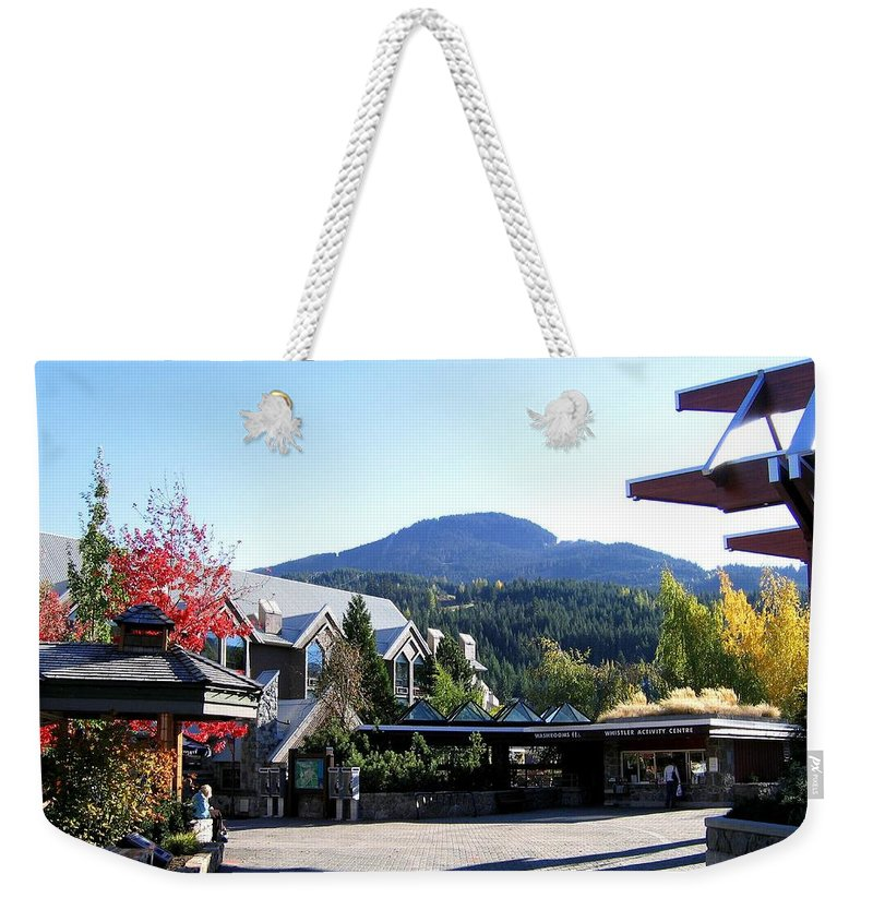 2010 Olympics Weekender Tote Bag featuring the photograph Whistler Mountain by Will Borden