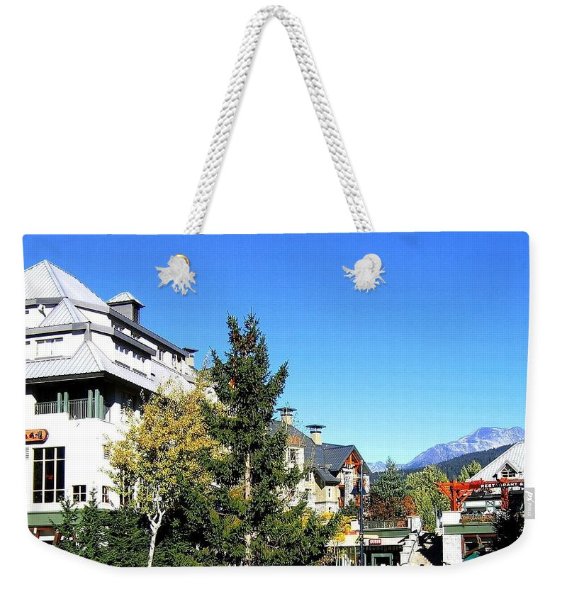 2010 Olympics Weekender Tote Bag featuring the photograph Whistler Village by Will Borden