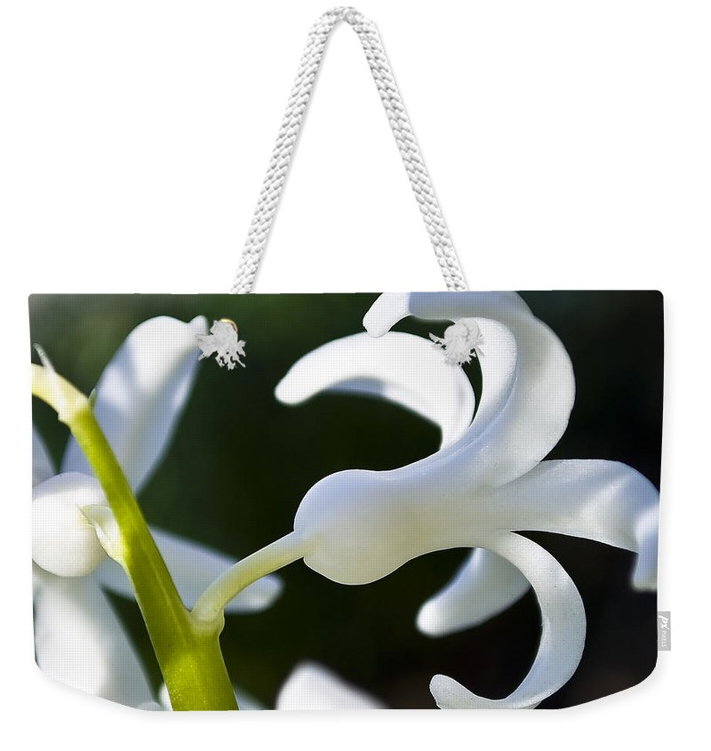 Beautiful Weekender Tote Bag featuring the photograph White Bell by Svetlana Sewell