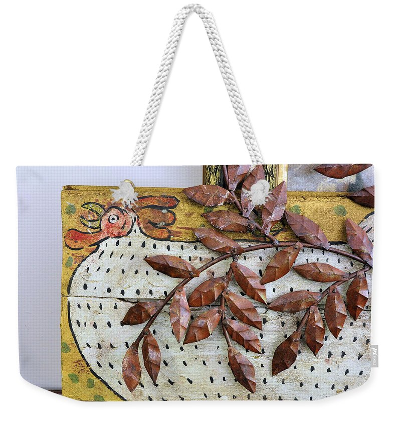 Still Life Weekender Tote Bag featuring the photograph White Ckicken by Jan Amiss Photography