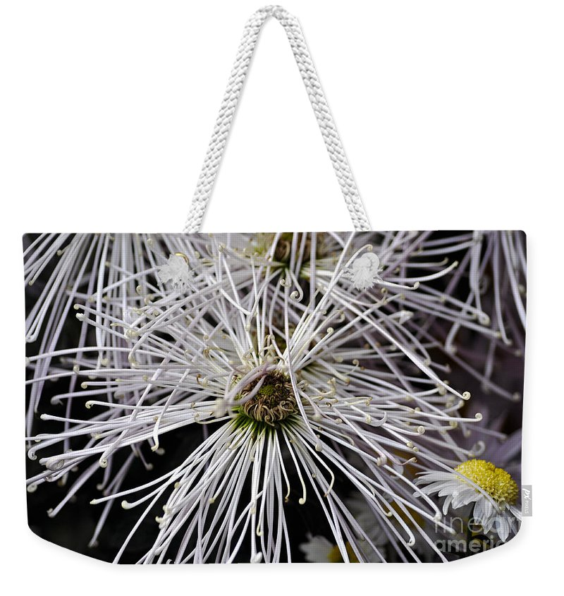 Clay Weekender Tote Bag featuring the photograph White Flora by Clayton Bruster