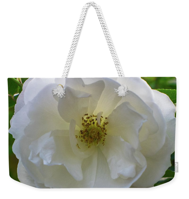 Flower Weekender Tote Bag featuring the photograph White Flower by Robert Edgar