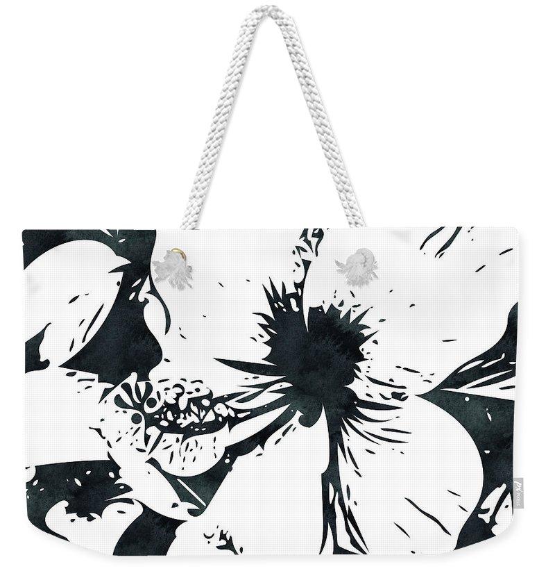 Hibiscus Weekender Tote Bags