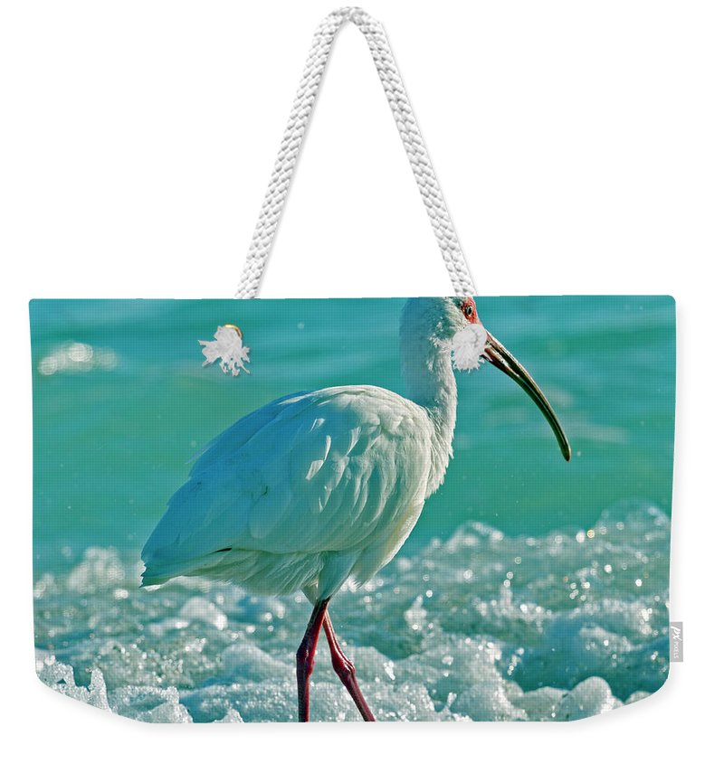 Ibis Weekender Tote Bag featuring the photograph White Ibis Paradise by Betsy Knapp