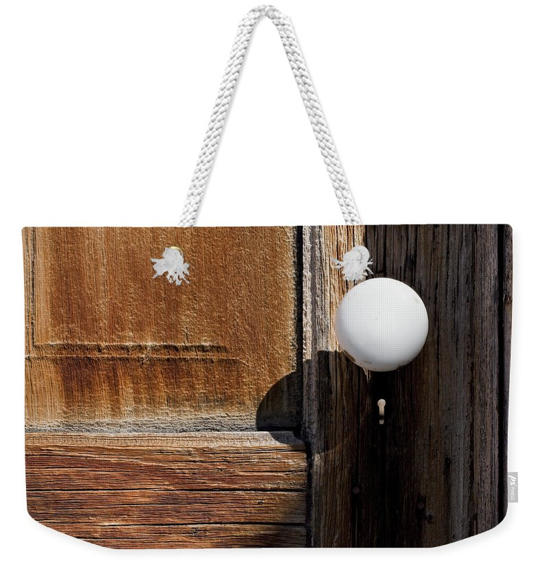White Door Knob Weekender Tote Bag featuring the photograph White Knob by Kelley King