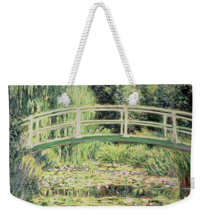 White Nenuphars Weekender Tote Bag featuring the painting White Nenuphars by Claude Monet