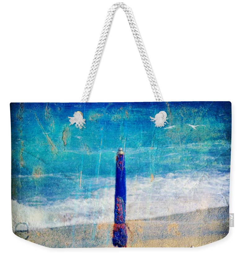 Beach Weekender Tote Bag featuring the photograph White Sail by Silvia Ganora