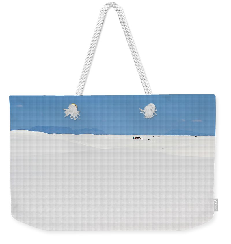 White Sands Weekender Tote Bag featuring the photograph White Sands #3 Picnic by Kume Bryant
