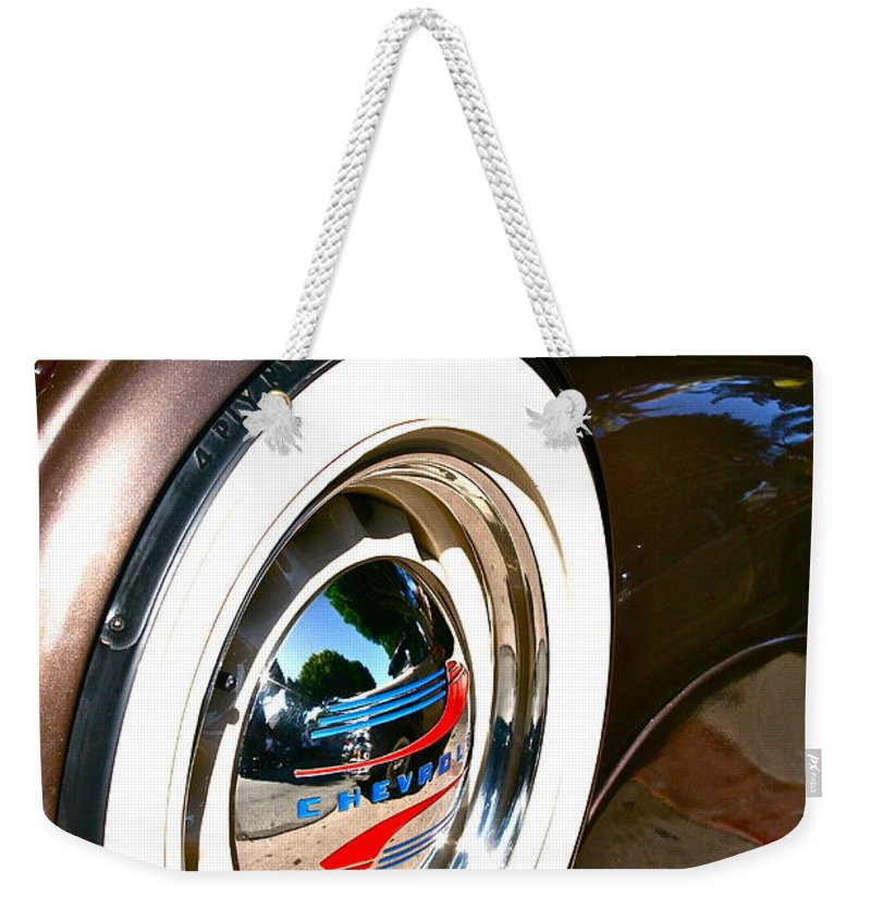 Photograph Of White Wall Weekender Tote Bag featuring the photograph White Wall by Gwyn Newcombe