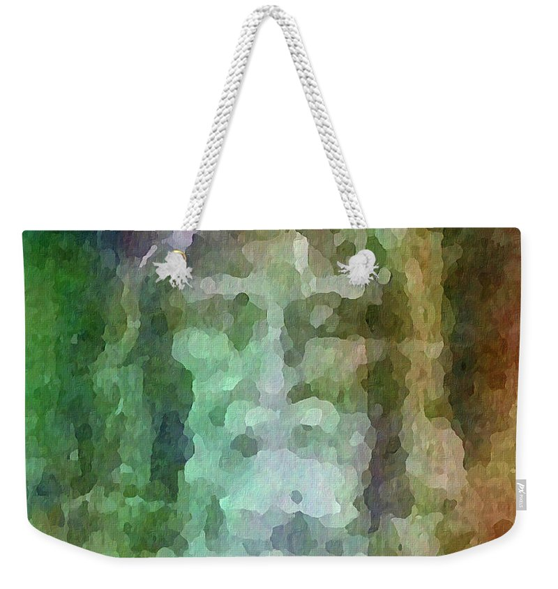 Shroud Weekender Tote Bag featuring the digital art Who Do Men Say That I Am - The Shroud by Glenn McCarthy Art and Photography