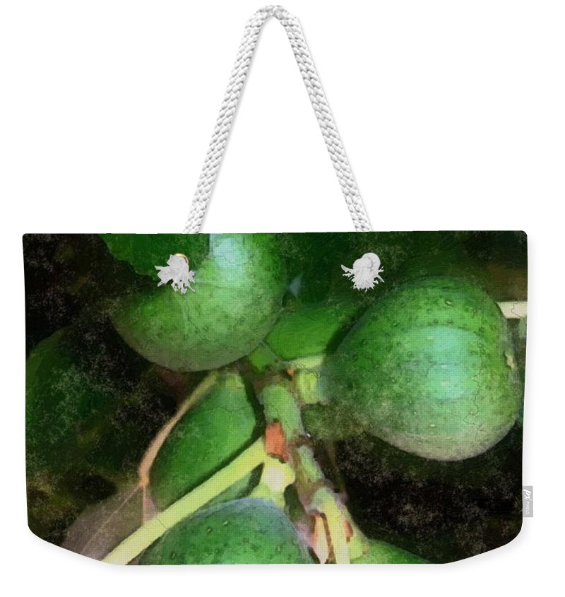 Fig Tree Weekender Tote Bag featuring the digital art Who Gives A Fig by RC DeWinter