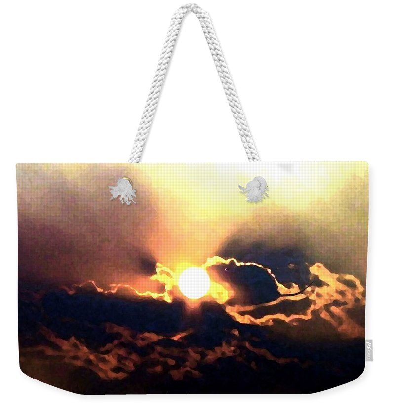 Abstract Weekender Tote Bag featuring the digital art Who Has Kissed The Sun by Will Borden