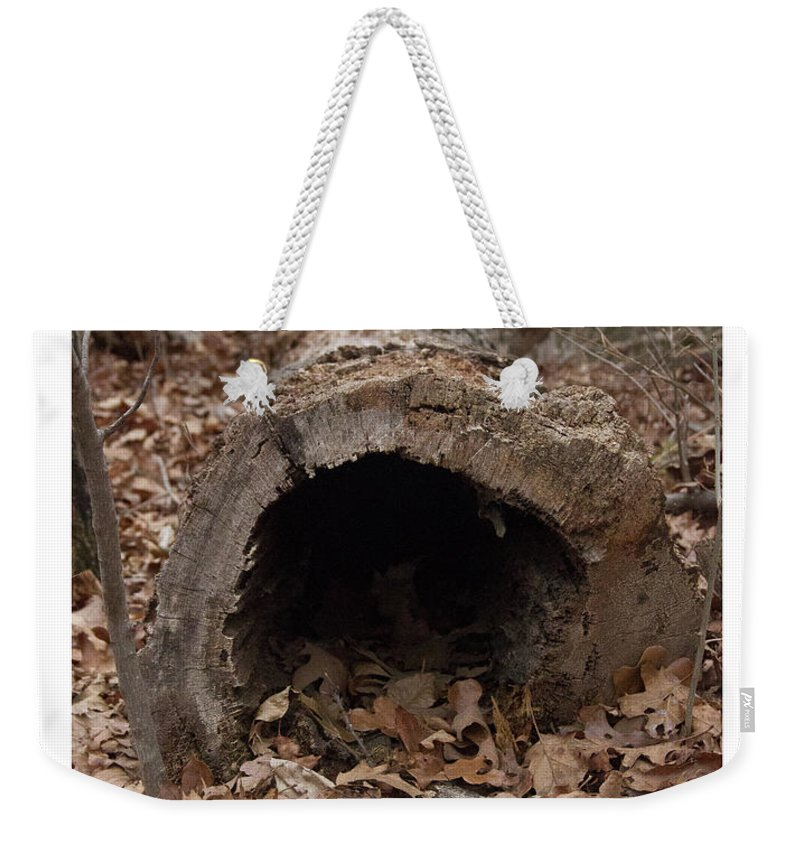 Nature Walk Weekender Tote Bag featuring the photograph Our Hollowed Home by Rebecca Pavelka