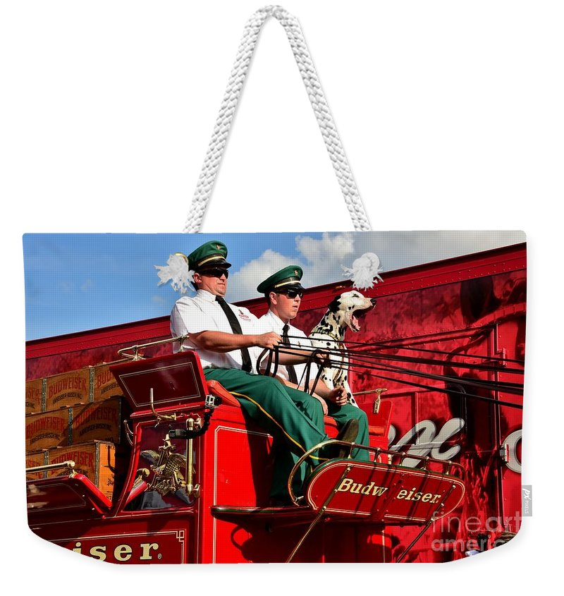 Whoa Weekender Tote Bag featuring the photograph Whoa 1 by Lisa Renee Ludlum