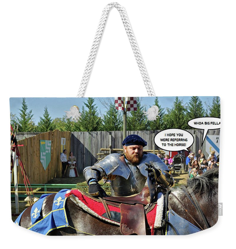 2d Weekender Tote Bag featuring the photograph Whoa Big Fella by Brian Wallace