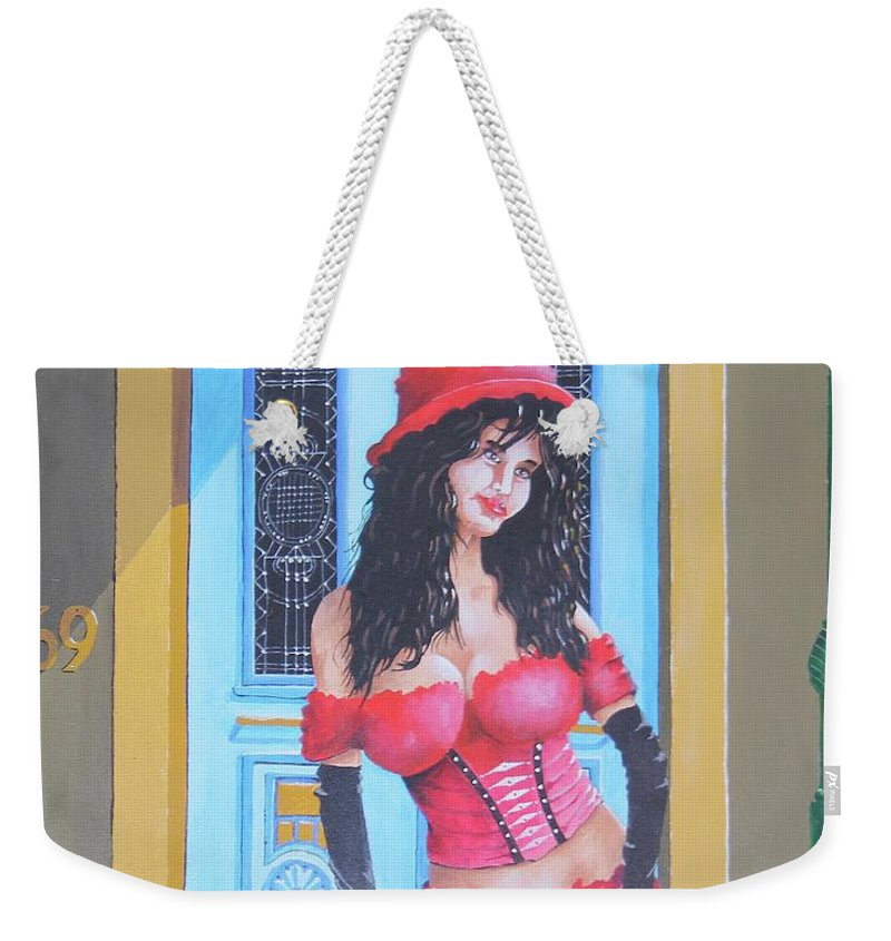 Song Weekender Tote Bag featuring the painting Why Not Ask For More by Wayne Hughes