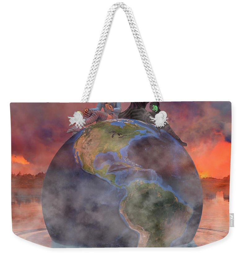 Render Weekender Tote Bag featuring the digital art Wickedful Oz by Betsy Knapp