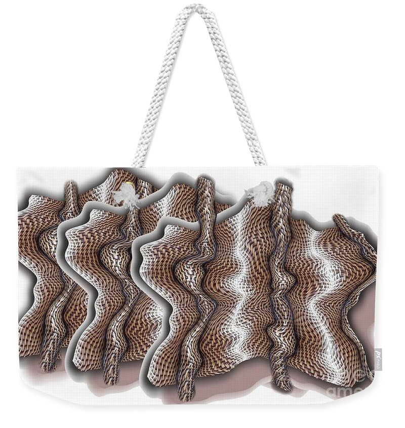 Basket Weekender Tote Bag featuring the digital art Wickered by Ron Bissett