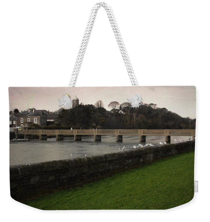 Footbridge Weekender Tote Bag featuring the photograph Wicklow Footbridge by Tim Nyberg