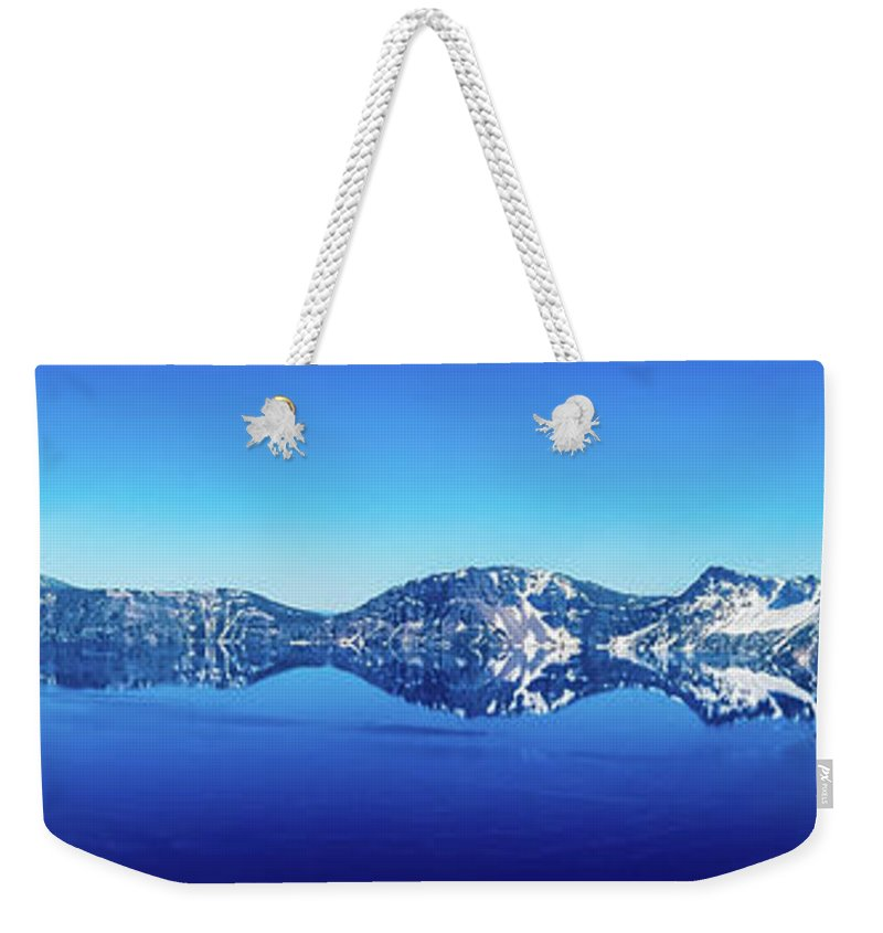 Lake Weekender Tote Bag featuring the photograph Wide Crater Lake by Jonny D