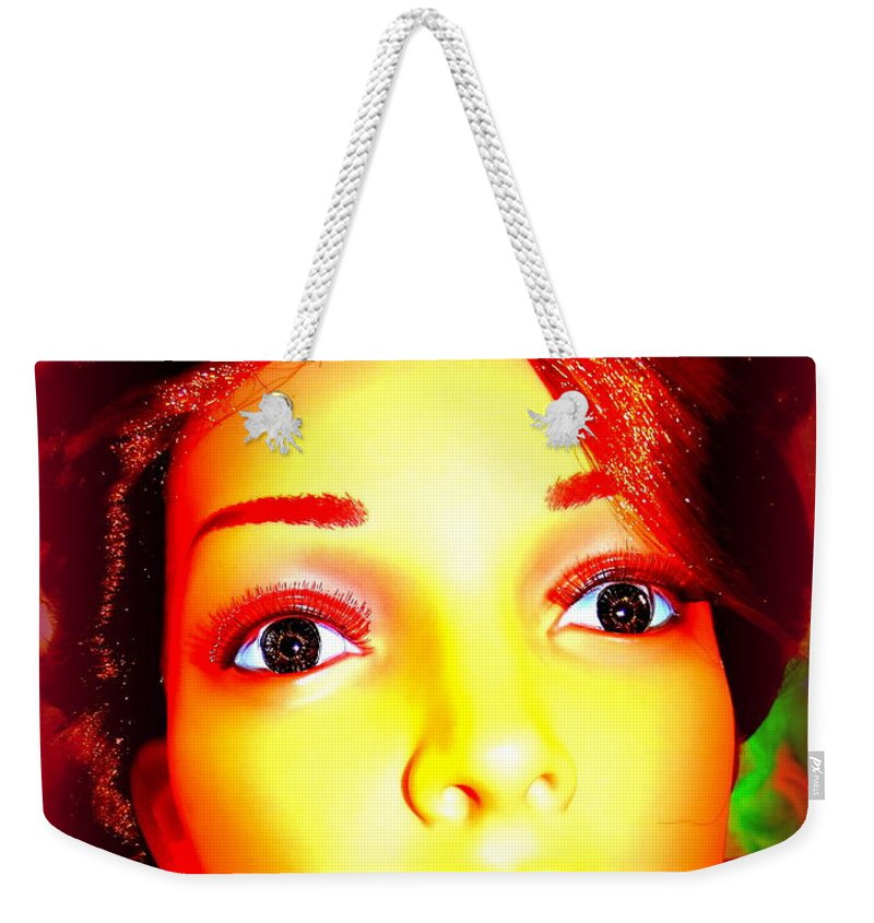 Digital Weekender Tote Bag featuring the photograph Wide Eyed Willow by Ed Weidman