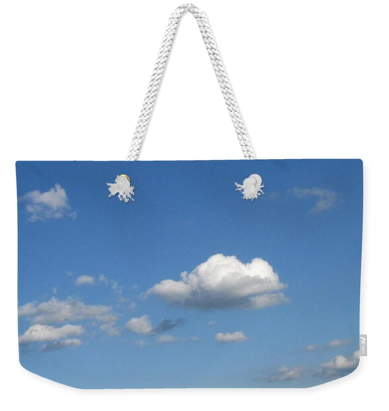 Clouds Weekender Tote Bag featuring the photograph Wide Open by Rhonda Barrett