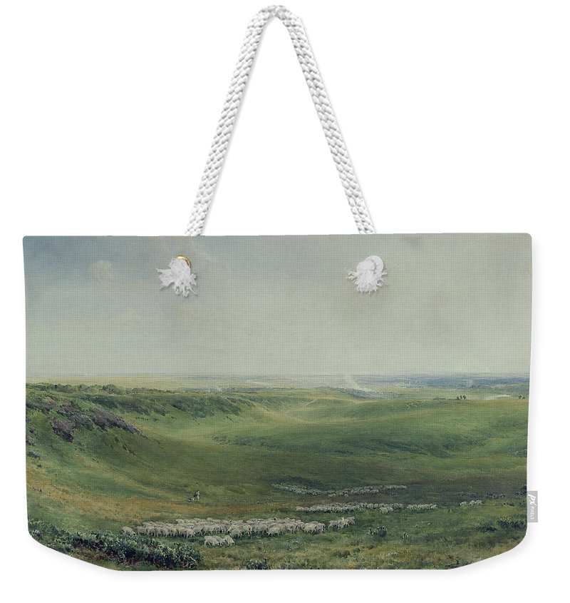 Wide Weekender Tote Bag featuring the painting Wide Pastures by Thomas Collier