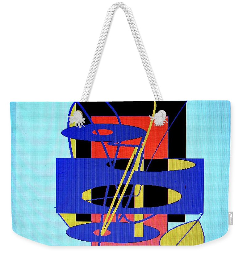 Abstract Weekender Tote Bag featuring the digital art Widget World by Ian MacDonald