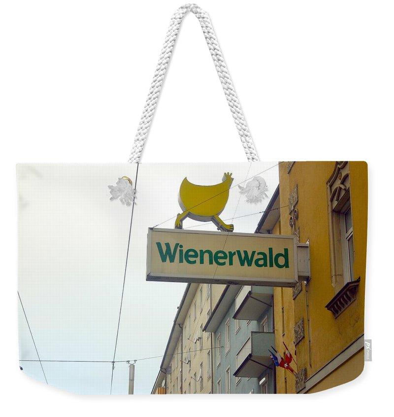 Chicken Weekender Tote Bag featuring the photograph Wienerwald In Salzburg by Minaz Jantz