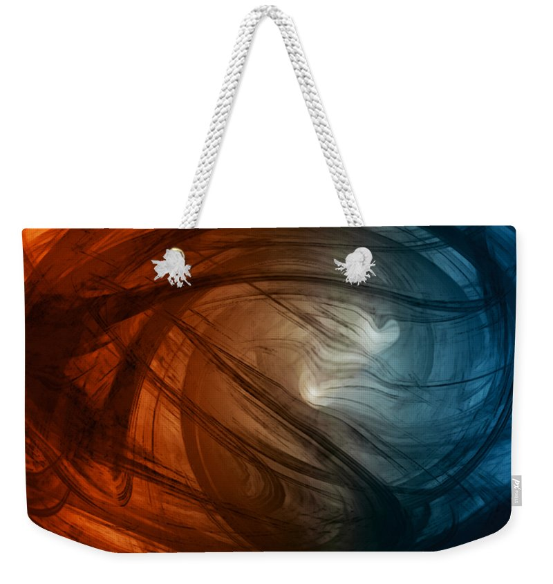 Wild As The Wind Weekender Tote Bag featuring the digital art Wild As The Wind by Linda Sannuti