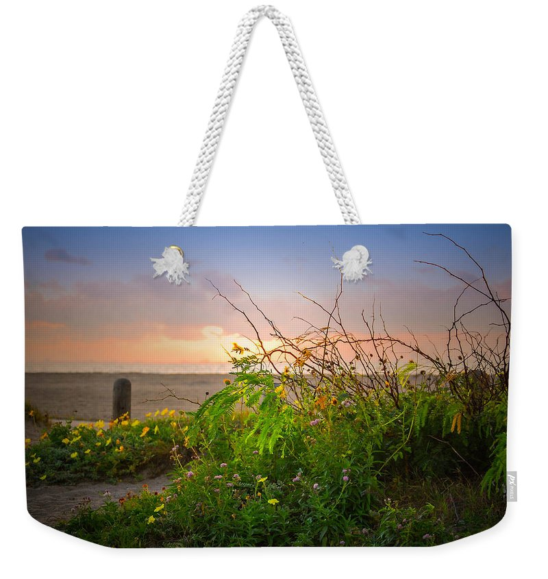 Landscape Weekender Tote Bag featuring the photograph Wild At Sunrise by Leticia Latocki