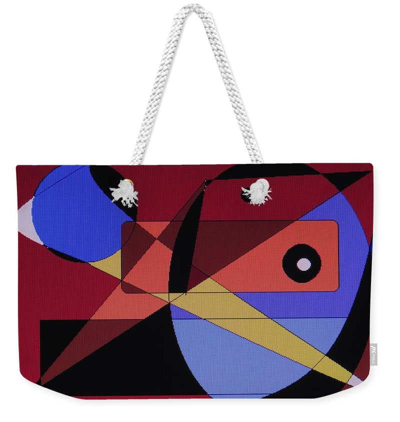 Abstract Bird Weekender Tote Bag featuring the digital art Wild Bird by Ian MacDonald
