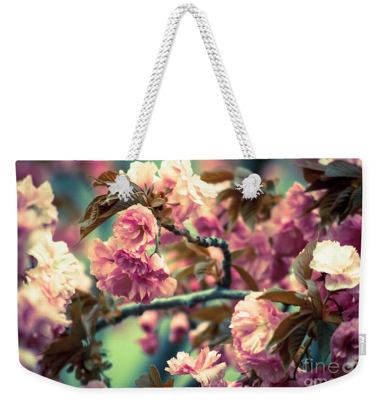 Pink Weekender Tote Bag featuring the photograph Wild Blossoms by Andrea Goodrich