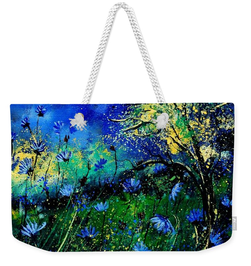 Poppies Weekender Tote Bag featuring the painting Wild Chocoree by Pol Ledent