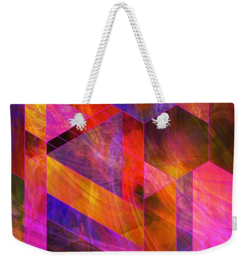 Wild Fire Weekender Tote Bag featuring the digital art Wild Fire by John Beck