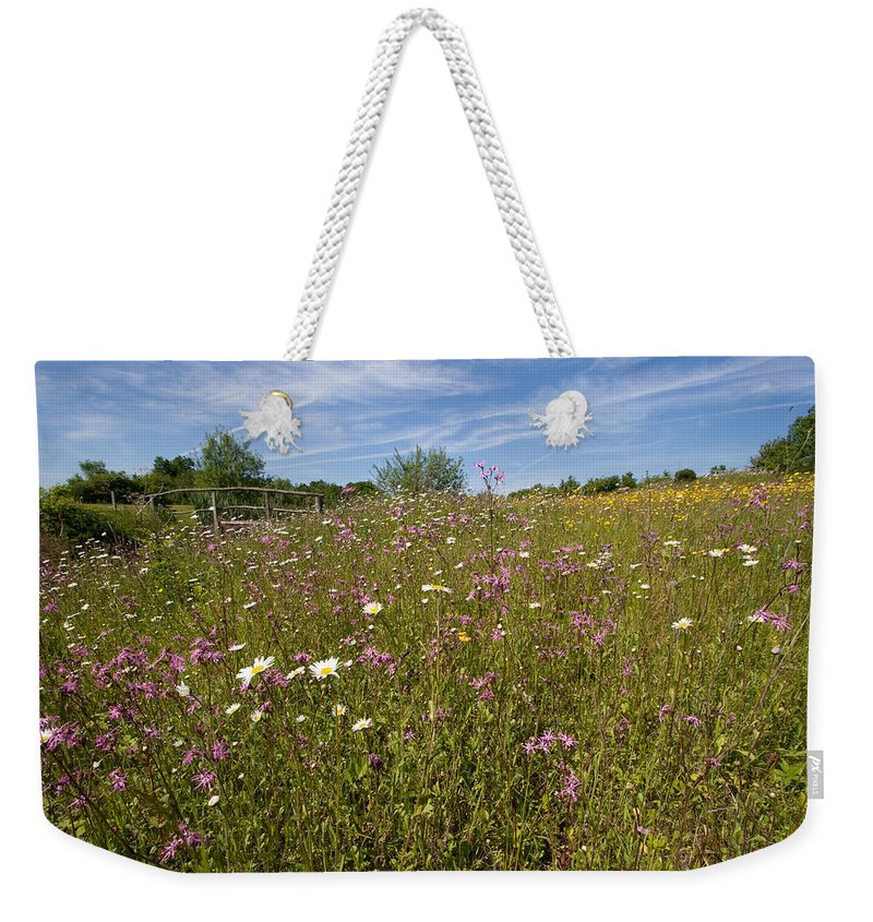 Wild Flower Weekender Tote Bag featuring the photograph Wild Flower Meadow by Bob Kemp