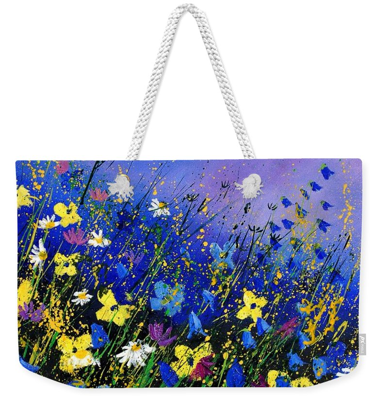 Flowers Weekender Tote Bag featuring the painting Wild Flowers 560908 by Pol Ledent