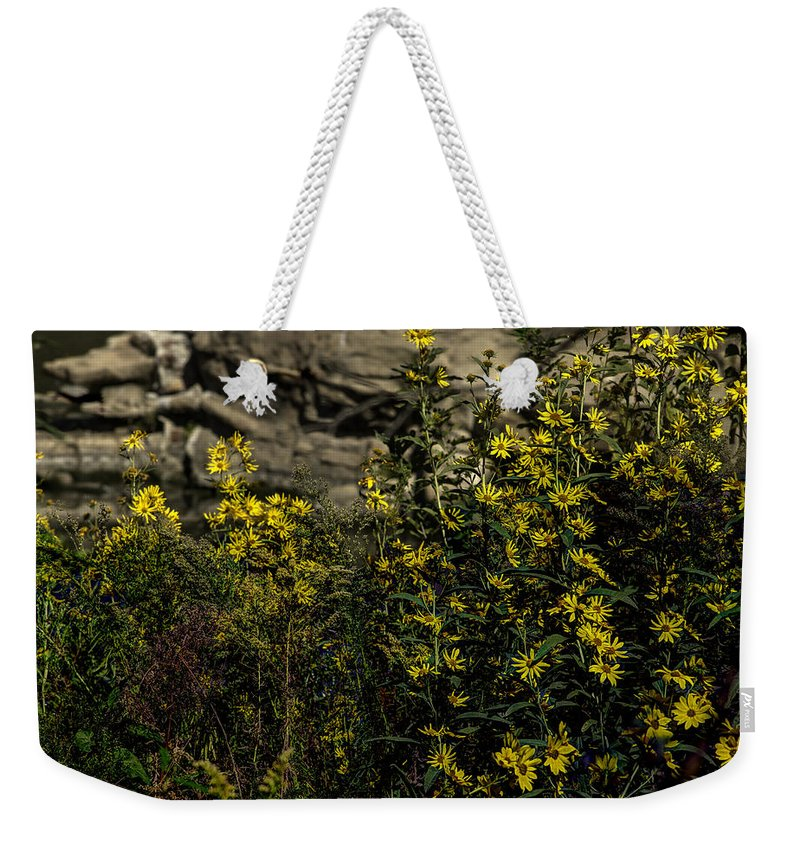 Summer Weekender Tote Bag featuring the photograph Wild Flowers by John Straton
