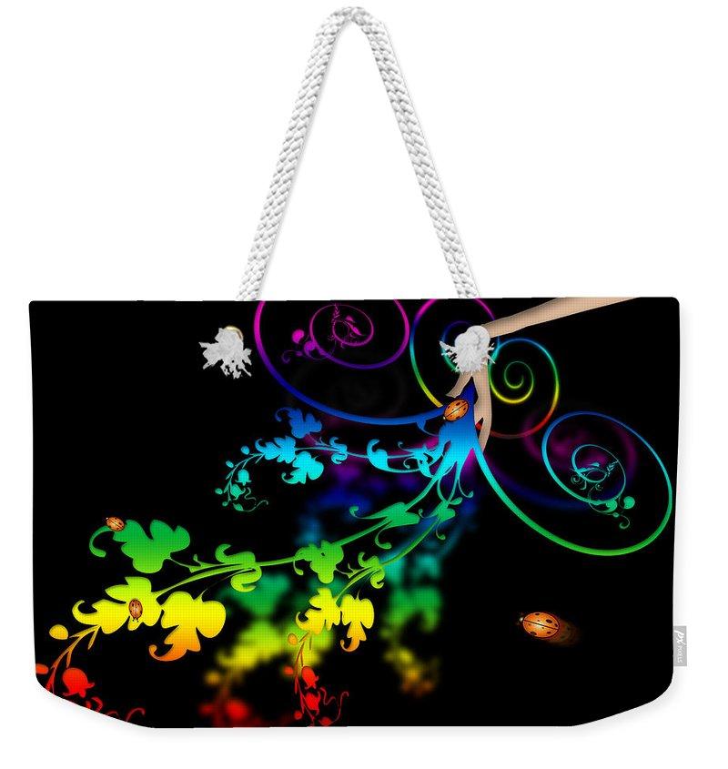 Abstract Weekender Tote Bag featuring the digital art Wild Flowers by Svetlana Sewell
