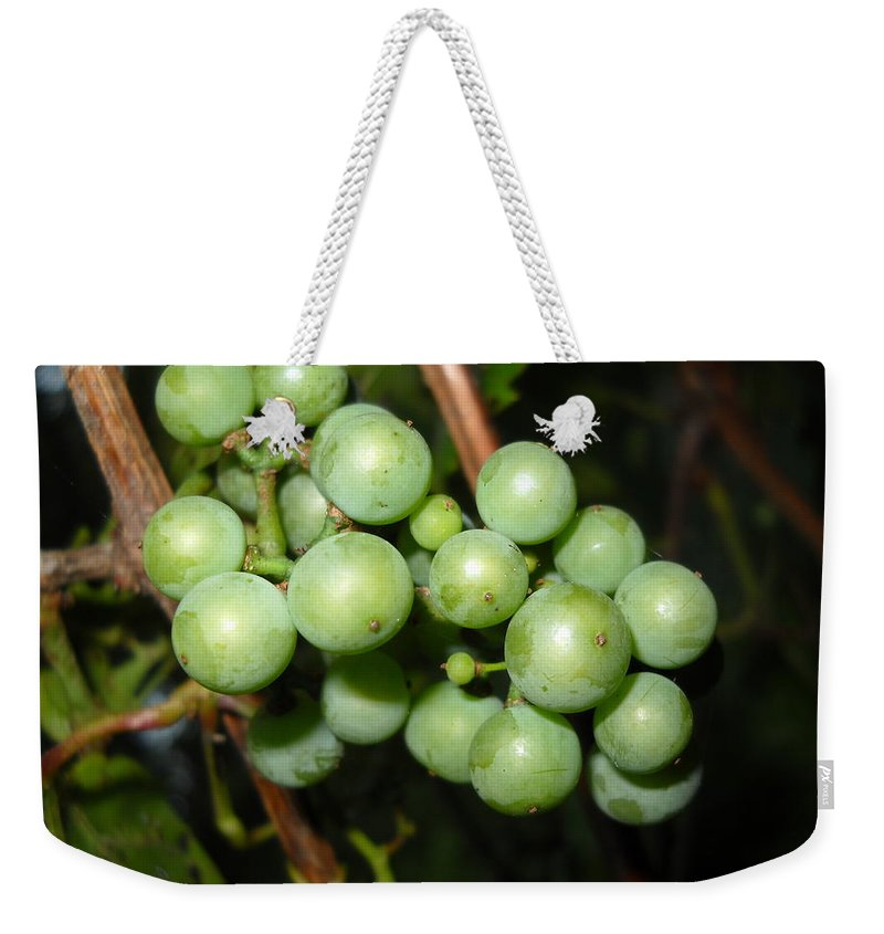 Grapes Weekender Tote Bag featuring the photograph Wild Grapes In August by Kent Lorentzen